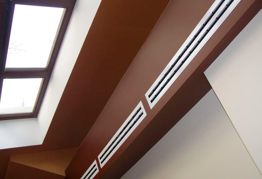 врезные вентиляционные решетки для мебели щелевые