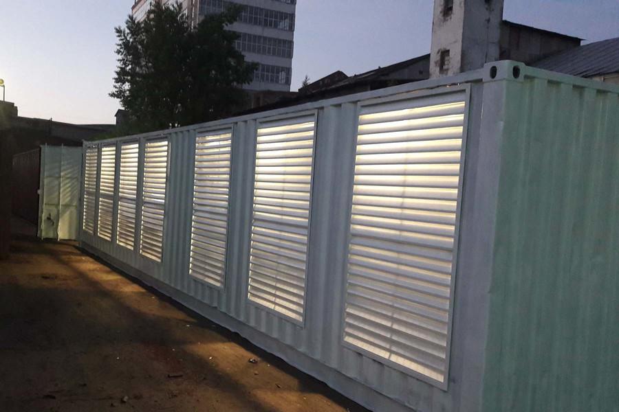 Наружные решетки для блок-контейнеров
