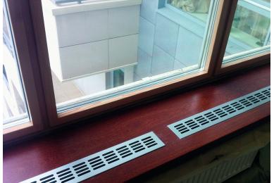 вентиляционные решетки для подоконников купить