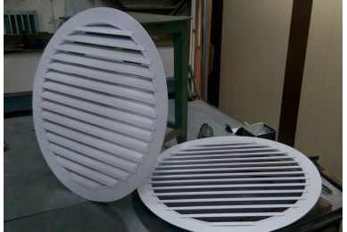 решетка вентиляционная наружная металлическая круглая