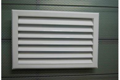 решетка вентиляционная вытяжная стальная с оцинкованным покрытием