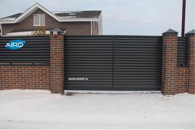 бетонный забор жалюзи
