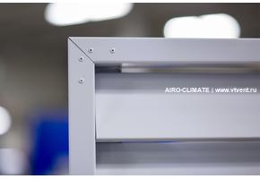 AIRO-FK (N120) жалюзийная решетка с горизонтальными ламелями против осадков