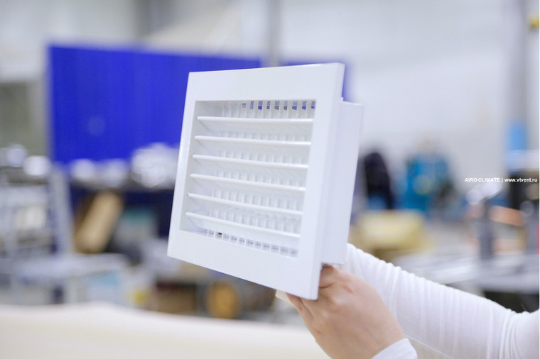 AIRO-R2 регулируемая вентиляционная решетка двухрядная