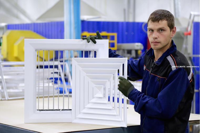 4VA с КРВ потолочная вентиляционная решетка с клапаном
