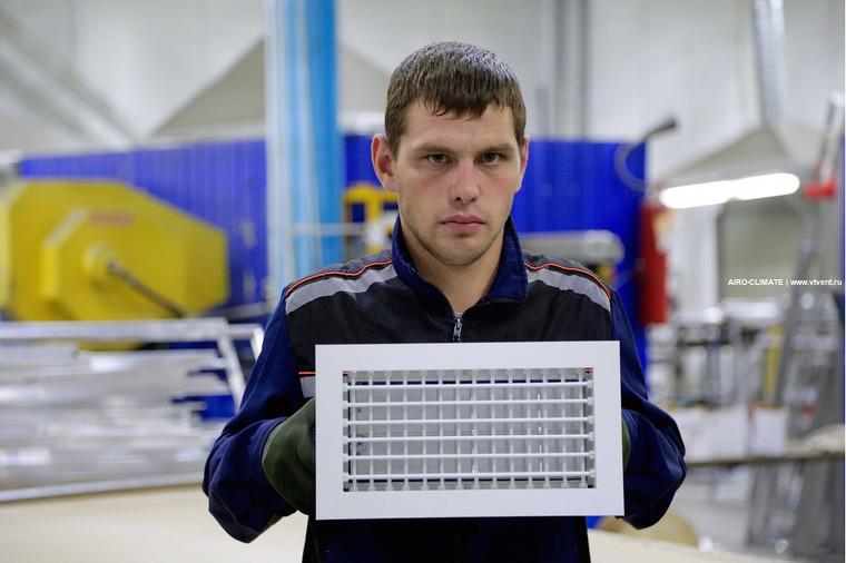 AIRO-RV2 с КРВ регулируемая вентиляционная решетка двухрядная