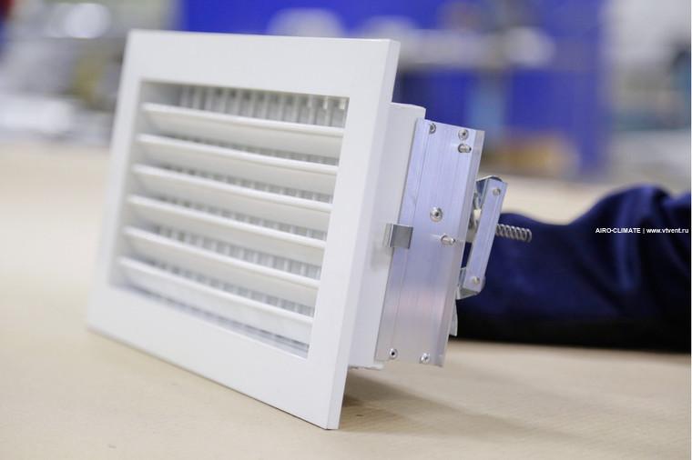 AIRO-R2 с КРВ регулируемая вентиляционная решетка двухрядная