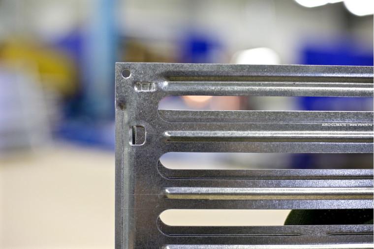 Тип Р200 штампованные щелевые регулируемые решетки